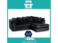 😁Super New😈2 Seater £169 3 Seater £195 3+2 £295 Corner Sofa £295-Crushed Velvet Jumbo Cord Brand😽