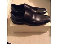 New leather black men's shoes size 12