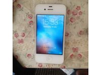 Apple iPhone 4s 16gb White on EE, virgin, orange, asda mobile network fully working looks new white