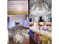 Chair covers,sashes,table cloths for hire!