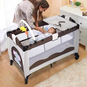 Baby Crib Playpen Playard Pack Travel Infant Bassinet Bed Foldable - BRAND NEW - FREE SHIPPING