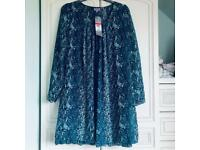 Ladies dress or long top size 14 new with tags