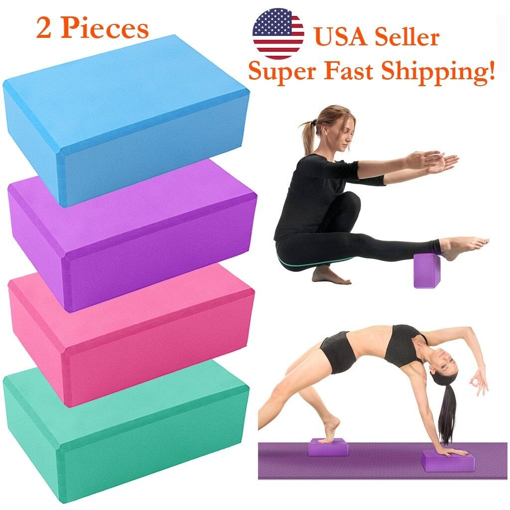 DH Yoga Block Brick Foam Sport Health Home Exercise Gym Tool