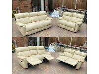 Lovely cream Manual reclining sofas can be delivered