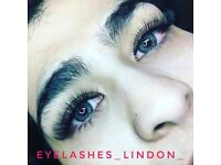 Eyelash extension/ Classic / Russian / Mix / Natural volume / mobile service / London