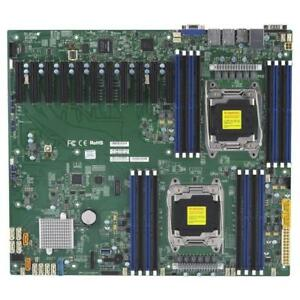 Supermicro X10DRX Server Motherboard - Supports (2) Processors - LGA 2011 - Supports Xeon E5-2600 v3/v4 - MBD-X10DRX