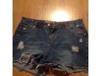 Demin blue shorts ladies size 12