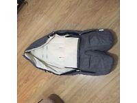 Stokke Foot Muff - Black Melange