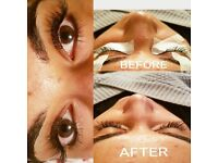 Individual Eyelash Extensions (Russian Volume, Silk or Mink)