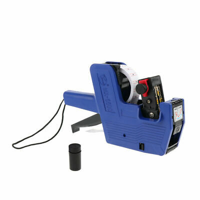 Mx-5500 8 Digits Price Pricing Tag Label Gun Labeller Plus Extra Ink Blue Body