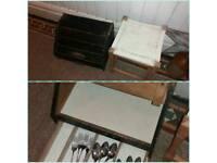 Stool and box