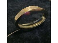 Stylish oval chrome lamp