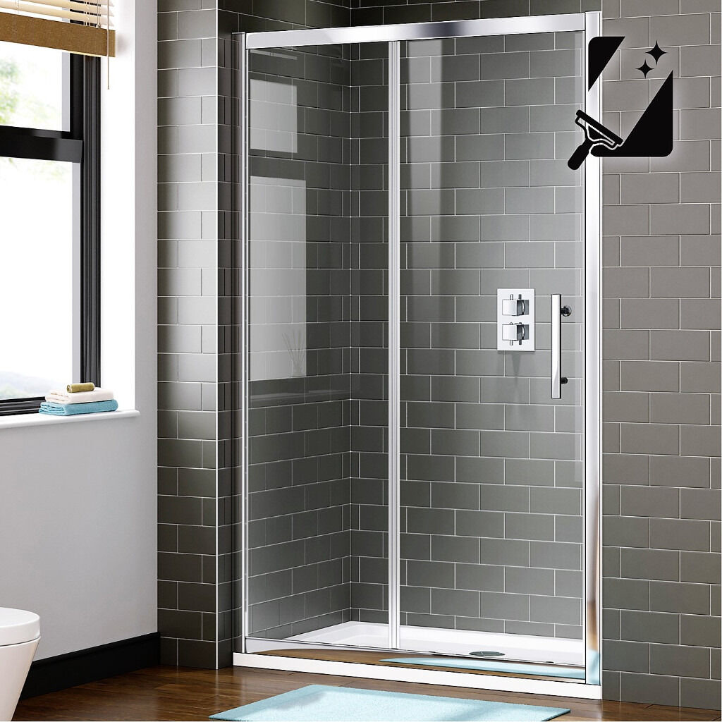 Unused Glass Sliding Shower Door 1000mm Wide 8mm Thick Glass In