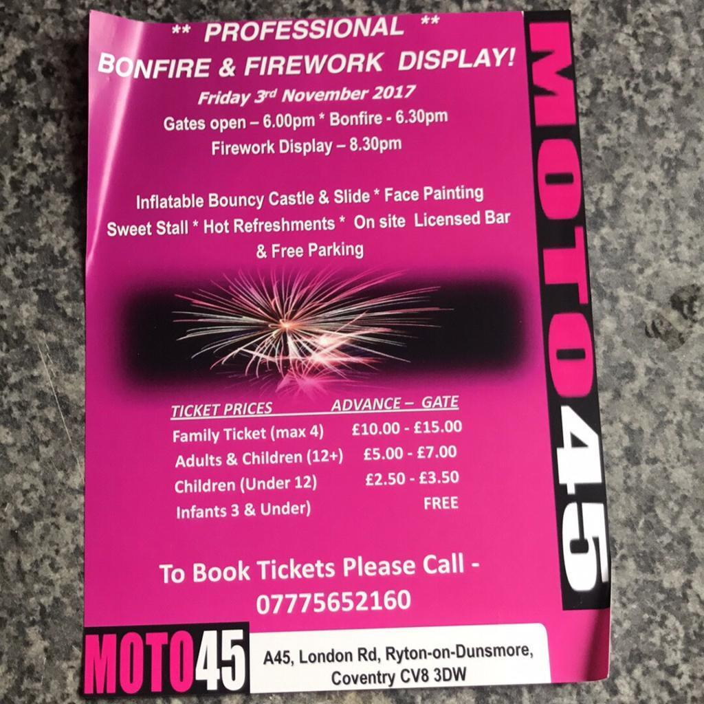 Professional Bonfire and Fireworks Display