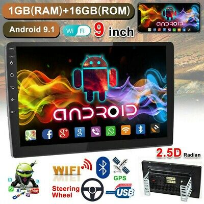 "9"" 2 DIN Autoradio Android 9.1 WIFI GPS NAVI Bluetooth Mirror Link FM USB HD"