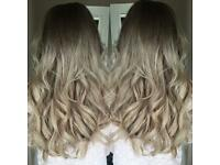 Hairdresser extensions great lengths weaves fusion bonds