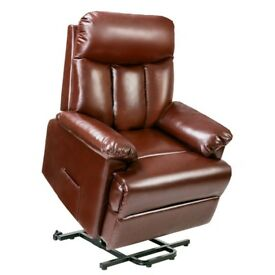 Sale! Brown Super Comfort Recliner Armchair Lift Leather Rise and Recliner Electric Recliner