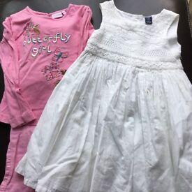 Girls Dress Top Trousers Bundle 3-4 Years Gap Debenhams H&M