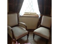 Pair of 19th Century Bedroom or Fireside Chairs