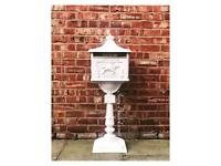 HIRE White Wedding Cast Lockable PostBox- Manchester £25