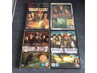 Pirates of Caribbean 1-4