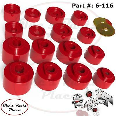 Mount Kit Explorer - Prothane 6-116 Body Mount Bushing Kit-16pc 01-05 Explorer Sport Trac-ONLY- 2&4WD