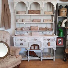 Stunning potboard dresser solid oak shabby chic