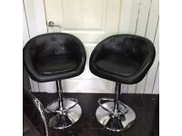 2 black kitchen bar stools