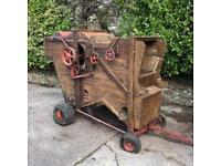 Garden feature ornament vintage threshing machine