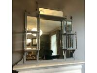 Farrow & Ball painted overmantle mirror