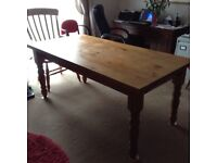 Family table no longer fit for purpose, can be sold with 4 chairs or just the table on it's own.