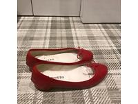 Repetto classic red ballerinas size 37.5 cheap sell