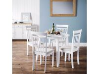 Julian Bowen Coast Dining Table & 4 Dining Chairs Can Deliver Viewing Collection Welcome
