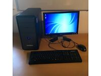 "Zoostorm Desktop PC and 19"" Dell monitor"