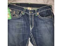 Men's authentic true religion jeans