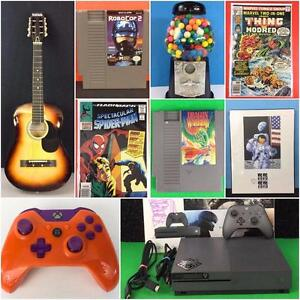 Retrogamer Video Game Auction! NES, Sega, PS4, PS3, Xbox, N64, Supermario, Zelda, Comic Books, Toys, Headsets, Vinyl