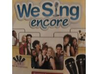 Nintendo wii with we sing