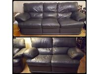 FREE - 3 piece leather and leather match suite