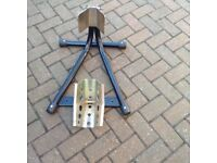 Motorbike stand made of steel and adjustable