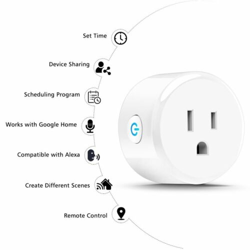 1PC Wi-Fi Smart Plug Socket Wireless Timer Switch Remote Control for IOS Android Consumer Electronics