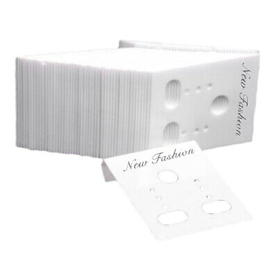 1000x White Earring Display Cards 1.2x1.5 Jewelry Packaging Packing Displays