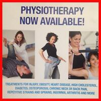 PHYSIOTHERAPY NOW AVAILABLE