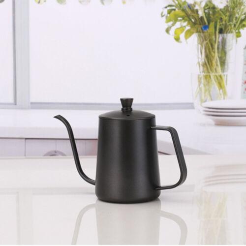 600mL Stovetop Gooseneck Tea Coffee Kettle Stainless Steel H