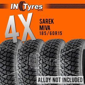 4x 185/60R15 Sarek Miva Alaska Tyres 185 60 15 Shore 60 Autograss Rally Track x4