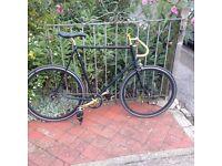 Fixed Gear/Single Speed Holdsworth Reynolds 531 Frame bike.