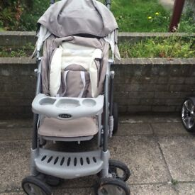 Graco Pram with baby car seat