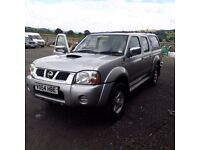 breaking silver nissan navara D22 double cab 4x4 parts spares manual snug top