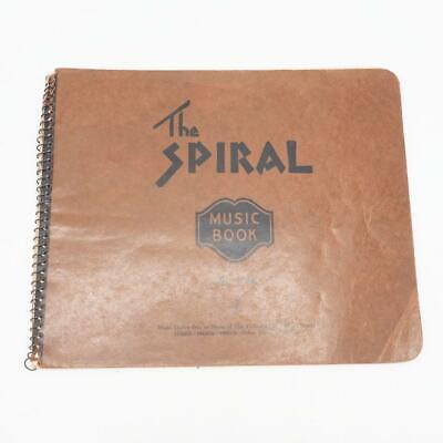 Vintage The Spiral Music Book Notebook