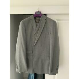men's fellini fitted 3 price suit worn once for wedding