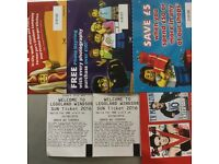 2x Adult tickets for Legoland to swap or sell